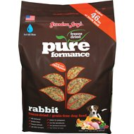 Grandma Lucy's Pureformance Grain-Free Rabbit Freeze-Dried Dog Food, 10-lb bag