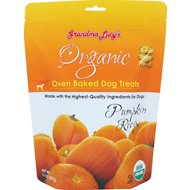 Grandma Lucy's Organic Pumpkin Oven Baked Dog Treats, 14-oz bag