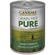 CANIDAE Grain-Free PURE Land Lamb Formula Canned Dog Food, 13-oz, case of 12