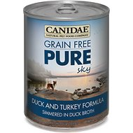 Canidae Grain-Free PURE Sky Duck & Turkey Formula Canned Dog Food, 13-oz, case of 12