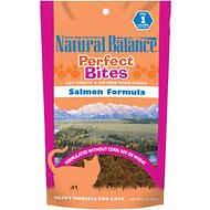 Natural Balance Perfect Bites Salmon Formula Cat Treats, 3-oz bag