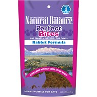 Natural Balance Perfect Bites Rabbit Formula Cat Treats, 3-oz bag