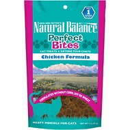 Natural Balance Perfect Bites Chicken Formula Cat Treats, 3-oz bag