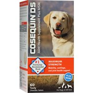 Nutramax Cosequin Maximum Strength (DS) Plus MSM Chewable Tablets Joint Health Supplement for Dogs, 60 count