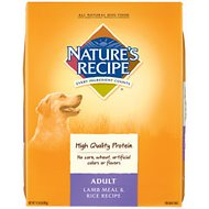 Nature's Recipe Adult Lamb Meal & Rice Recipe Dry Dog Food, 15-lb bag