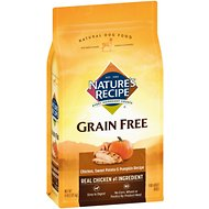 Nature's Recipe Grain-Free Chicken, Sweet Potato & Pumpkin Recipe Dry Dog Food, 4-lb bag
