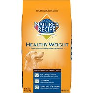 Nature's Recipe Healthy Weight Adult Chicken Meal, Rice & Barley Recipe Dry Dog Food, 4.5-lb bag