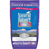 Natural Balance Indoor Ultra Rabbit & Salmon Meal Formula Dry Cat Food, 5-lb bag