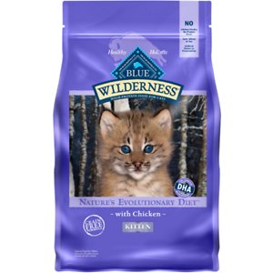 Blue Buffalo Wilderness Kitten Chicken recipe dry food