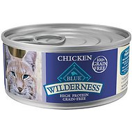 Blue Buffalo Wilderness Chicken Grain-Free Canned Cat Food, 5.5-oz, case of 24