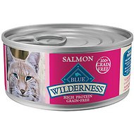 Blue Buffalo Wilderness Salmon Grain-Free Canned Cat Food, 5.5-oz, case of 24