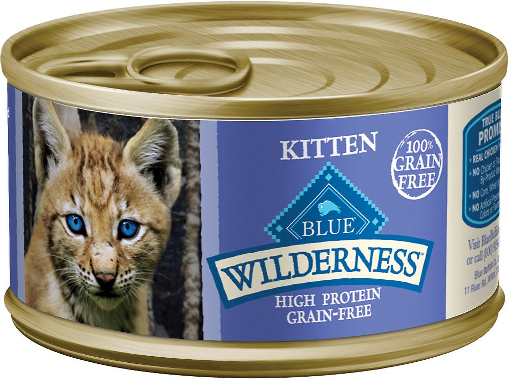 Blue Buffalo Wilderness Kitten Chicken Grain Free Canned Cat Food 3