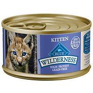 Blue Buffalo Wilderness Kitten Chicken Grain-Free Canned Cat Food, 3-oz, case of 24