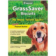 NaturVet GrassSaver Biscuits Peanut Butter Flavored Dog Treats, 11-oz box