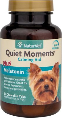Naturvet Quiet Moments Calming Aid Plus Melatonin Dog Tablets 60