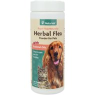 NaturVet Herbal Flea Cat & Dog Powder, 4-oz container