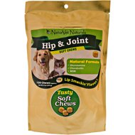 NaturVet Hip & Joint Dog & Cat Soft Chews, 120 count