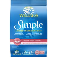 Wellness Simple Limited Ingredient Diet Grain-Free Salmon & Potato Formula Dry Dog Food, 10.5-lb bag