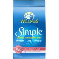 Wellness Simple Limited Ingredient Diet Grain-Free Salmon & Potato Formula Dry Dog Food, 24-lb bag