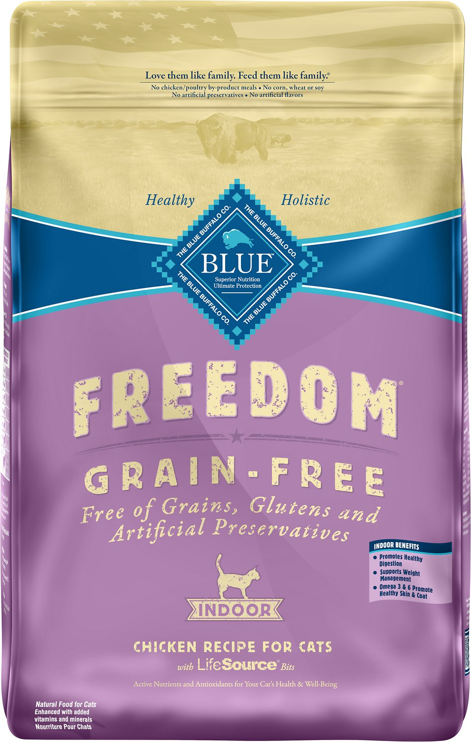 Blue Buffalo Freedom Indoor Adult Chicken Recipe Grain Free Dry