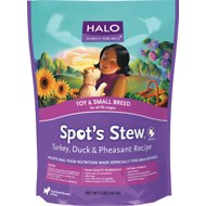 Halo Spot's Stew Turkey, Duck, & Pheasant Recipe Toy & Small Breed Dry Dog Food, 4-lb bag