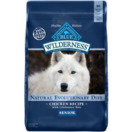 Blue Buffalo Wilderness Senior Chicken Recipe Grain-Free Dry Dog Food, 24-lb bag