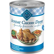 Blue Buffalo Family Favorite Grain-Free Recipes Sunday Chicken Dinner Canned Dog Food, 12.5-oz, case of 12