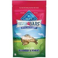 Blue Buffalo Blue Mini Bars Blueberry & Yogurt Natural Biscuits Dog Treats, 8-oz bag