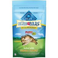 Blue Buffalo Blue Mini Bars Puppy Banana & Yogurt Natural Biscuits Dog Treats, 8-oz bag