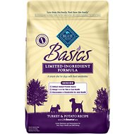 Blue Buffalo Basics Turkey & Potato Recipe Senior Dry Dog Food, 24-lb bag