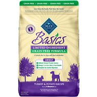 Blue Buffalo Basics Limited Ingredient Grain-Free Formula Turkey & Potato Recipe Adult Dry Dog Food, 24-lb bag