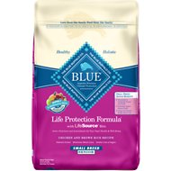 Blue Buffalo Life Protection Formula Small Breed Senior Chicken & Brown Rice Recipe Dry Dog Food, 15-lb bag