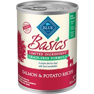 Blue Buffalo Basics Limited Ingredient Grain-Free Salmon & Potato Recipe Canned Dog Food, 12.5-oz, case of 12