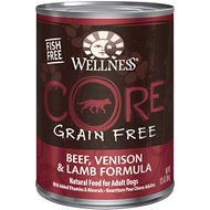Wellness CORE Grain-Free Beef, Venison & Lamb Formula Canned Dog Food, 12.5-oz, case of 12