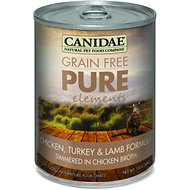 Canidae Grain-Free PURE Elements Chicken, Turkey & Lamb Formula Canned Cat Food, 13-oz, case of 12