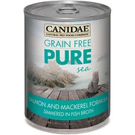 CANIDAE Grain-Free PURE Sea Salmon & Mackerel Formula Canned Cat Food, 13-oz, case of 12