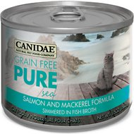 CANIDAE Grain-Free PURE Sea Salmon & Mackerel Formula Canned Cat Food, 5.5-oz, case of 12