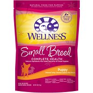 Wellness Small Breed Complete Health Puppy Turkey, Oatmeal & Salmon Meal Recipe Dry Dog Food, 4-lb bag