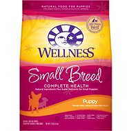 Wellness Small Breed Complete Health Puppy Turkey, Oatmeal & Salmon Meal Recipe Dry Dog Food, 12-lb bag
