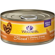 Wellness Sliced Chicken Entree Canned Cat Food, 5.5-oz, case of 24