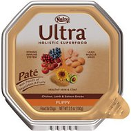 Nutro Ultra Puppy Pate Chicken, Lamb & Salmon Entree Dog Food Trays, 3.5-oz tray, case of 24