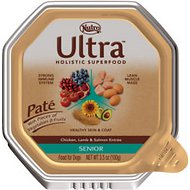 Nutro Ultra Senior Pate Chicken, Lamb & Salmon Entree Dog Food Trays, 3.5-oz tray, case of 24
