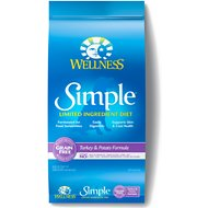 Wellness Simple Limited Ingredient Diet Grain-Free Turkey & Potato Formula Dry Dog Food, 26-lb bag