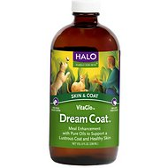 Halo VitaGlo Dream Coat  Dog & Cat Supplement, 8-oz bottle