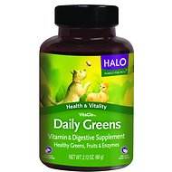 Halo VitaGlo Daily Greens Dog & Cat Supplement, 100 count
