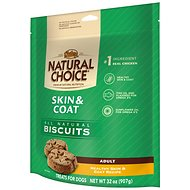 Nutro Skin & Coat Biscuits Adult Healthy Skin & Coat Recipe Dog Treats, 32-oz bag