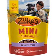 Zuke's Mini Naturals Wild Rabbit Recipe Dog Treats, 6-oz bag