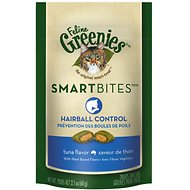 Greenies Feline SmartBites Hairball Control Tuna Flavor Cat Treats, 2.1-oz bag