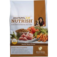 Rachael Ray Nutrish Healthy Weight Natural Turkey & Veggies Recipe Dry Dog Food, 14-lb bag