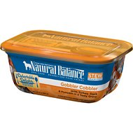 Natural Balance Delectable Delights Gobbler Cobbler Stew Grain-Free Wet Dog Food, 8-oz tubs, case of 12